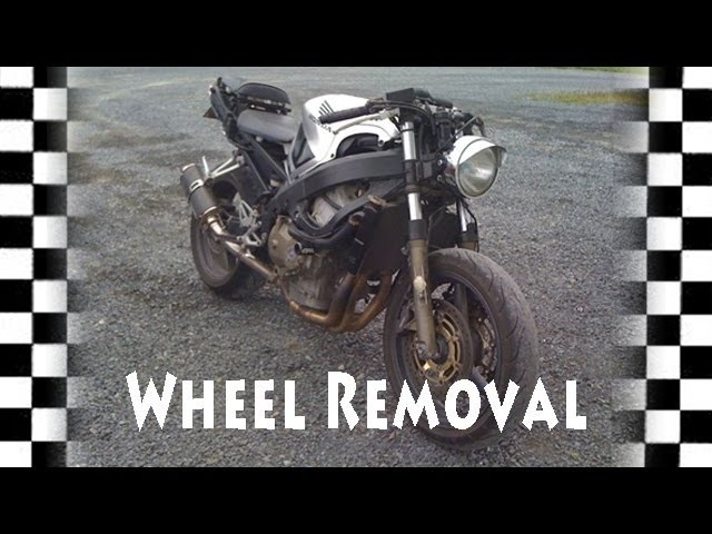 Part 1 Motorcycle Front Wheel Removal CBR600   Tire DIY How To