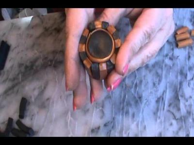 Polymer Clay Steampunk Gear Cane Tutorial
