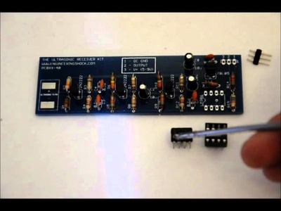 The 40kHz Ultrasonic Receiver DIY Electronics Kit - Intro and Assembly