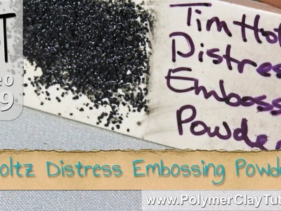 Tim Holtz Distress Embossing Powder on Polymer Clay