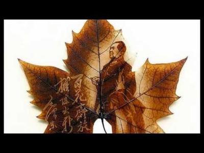 Unusual Art Part One: Leaf Carvings