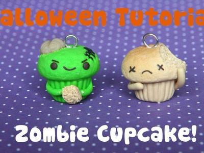 Zombie Cupcake ● Halloween Polymer Clay Tutorial