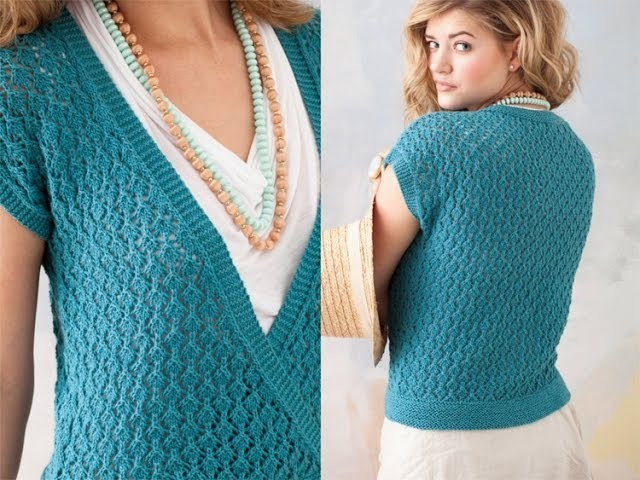 #26 Lace Top, Vogue Knitting Spring.Summer 2011