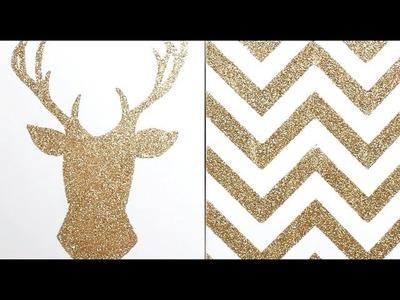 Apartment Decor DIY: Glitter Canvas Wall Art