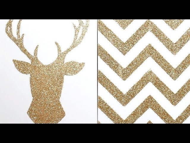 Apartment Decor DIY: Glitter Canvas Wall Art