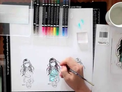 Artiste Watercolor Markers Tutorial (docrafts part #1)