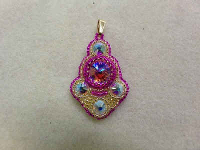 Bollywood Bead Embroidery Pendant