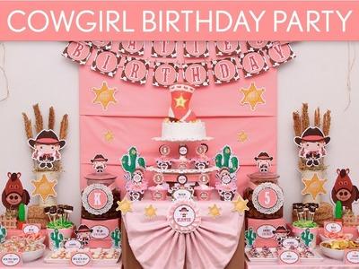 Cowgirl Birthday Party Ideas. Cowgirl - B12