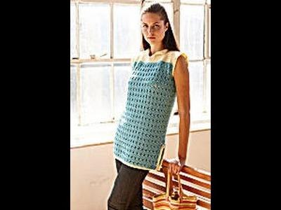 #Crochet Beach Cover Up (Video 3.final) Lion Brand pattern