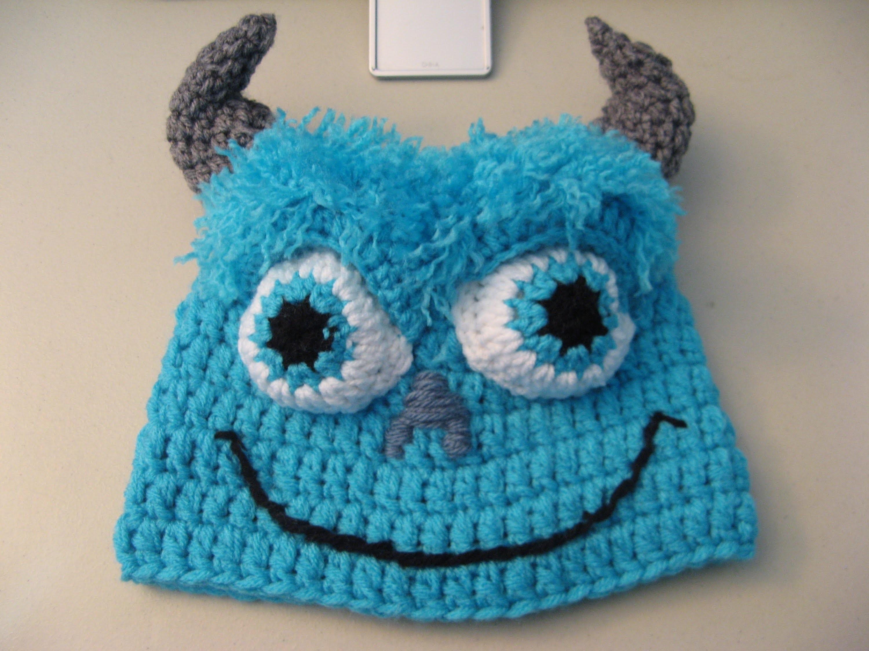 Crochet Blue Monster Beanie. Video One