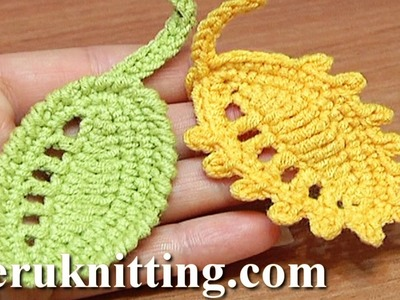 Crochet Leaf Rain Drops Tutorial 27 Reverse Single Crochet Trim Picot Trim