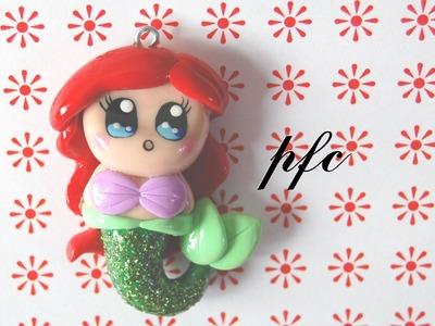 DIY Ariel Chibi Polymer Clay Charm Tutorial (The Little Mermaid)