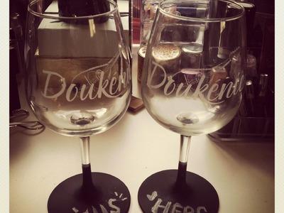 ✄ DIY Chalkboard Mugs & Wine Glasses ♡