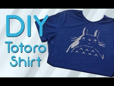 DIY Freezer Paper Totoro Shirt