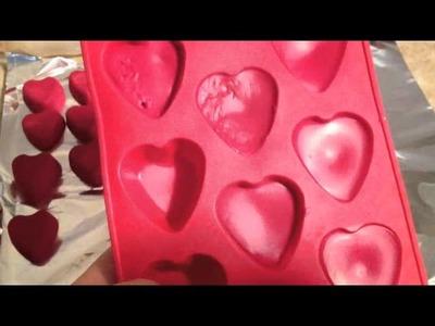DIY: Heart Crayons  ♡ Theeasydiy #Crafty