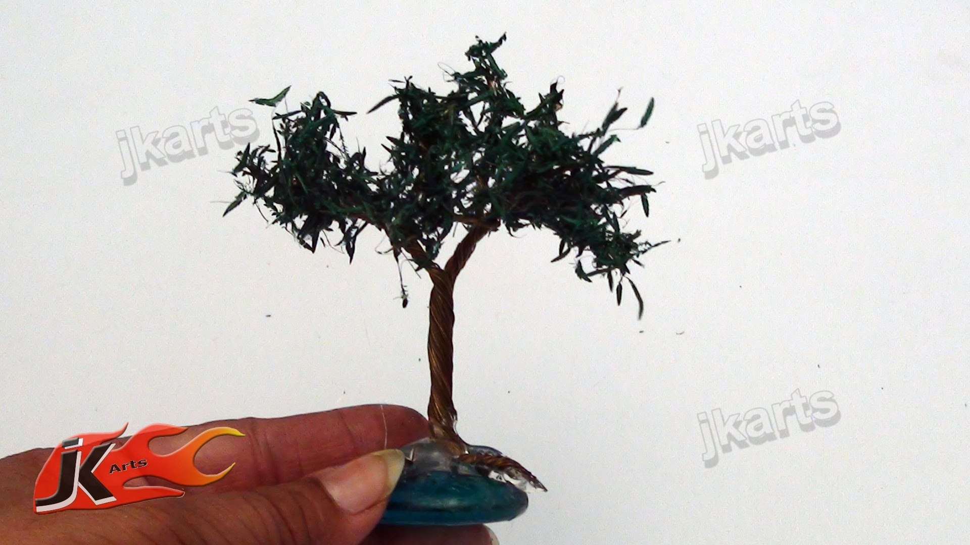 DIY How to make Miniature wire tree - JK Arts 107