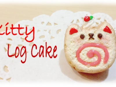 DIY Kitty Log Cake Clay Tutorial