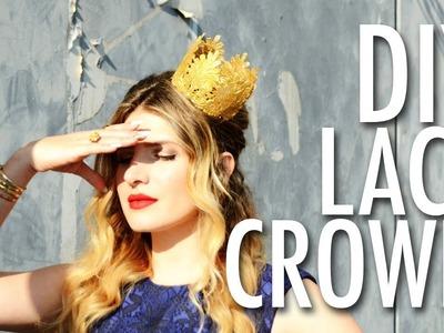DIY lace party crown