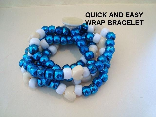 DIY QUICK AND EASY WRAP BRACELET,  jewelry making