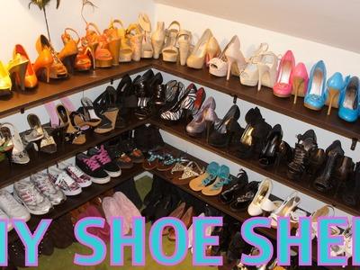 DIY Shoe Shelf and Organization