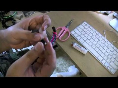 DR: how-to put bead on paracord bracelet