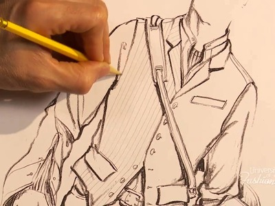 Fashion Art: How to hand render a herringbone pattern on a stylish men's vest