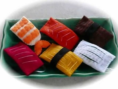 "Felt Crafts - Felt Food Sushi Patterns (from the ""Felt Cuisine"" series) - Now on eBay !"