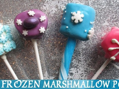 Frozen - DIY 4 Easy Snowflake Marshmallow Pops - Inspired by Disney Movie - Princess Elsa Anna