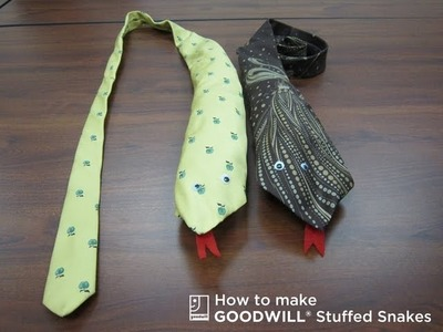 How to Create a Stuffed Snake with Items from Goodwill