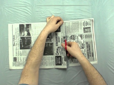 How to Cut Newspaper for Makigami