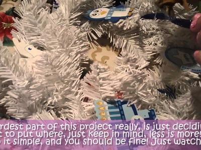 How to make a Hanukkah wreath -8 Crafting days of Hanukkah