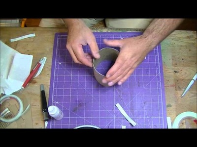 How To Make A Round Box From Chipboard!