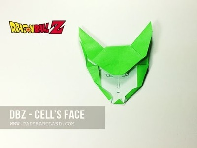 How to Make an Origami  DBZ - Cell's Face ( Tri Dang )