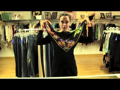 How to tie a Hermes scarf- 4