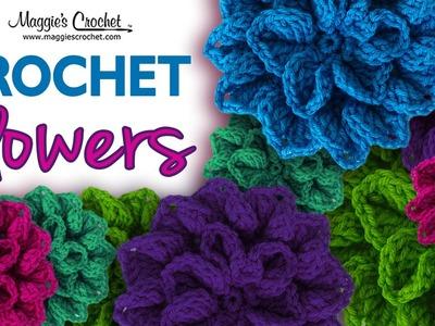 Hydrangea Free Crochet Pattern - Left Handed