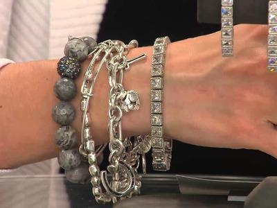 "Judith Ripka Sterling 6-3.4"" Princess Cut Diamonique Tennis Bracelet with Shawn Killinger"