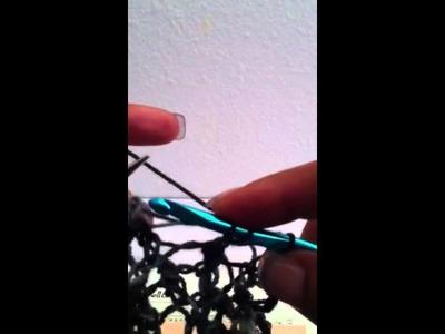 Lazy Katy shawl bind off tutorial