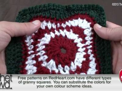Left Hand: Crochet Rise & Shine Square Afghan Tutorial