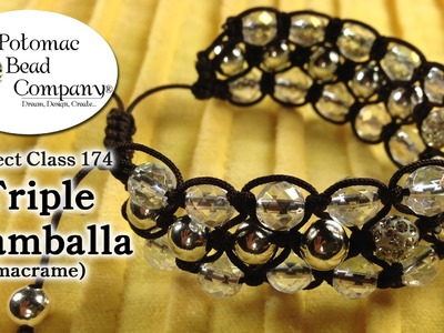 Make a Triple Shamballa Bracelet