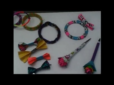 My First Video!! ~ All my Different Crafts!!