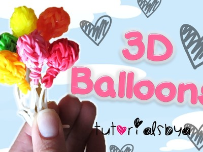 NEW 3D Balloon Charm. Mini Figurine Rainbow Loom Tutorial | How To