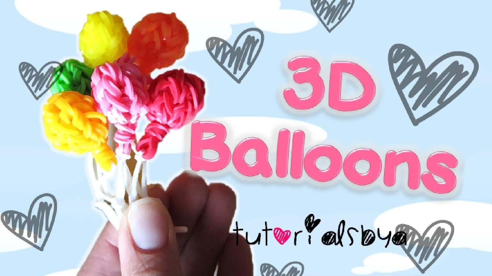 NEW 3D Balloon Charm. Mini Figurine Rainbow Loom Tutorial | How To