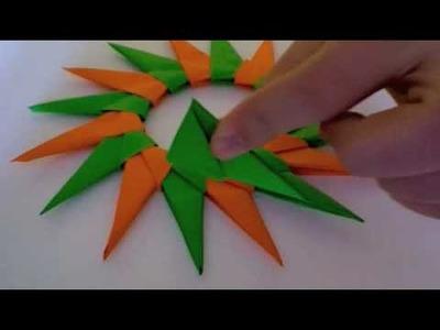Origami School- 16 Pointed Star