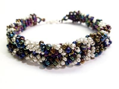 PandaHall Jewelry Making Tutorial Video--How to Make Beaded Chevron Bracelet