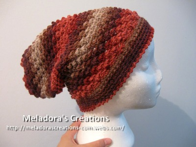 Raspberry Stitch Slouch Hat - Left Handed Crochet Tutorial