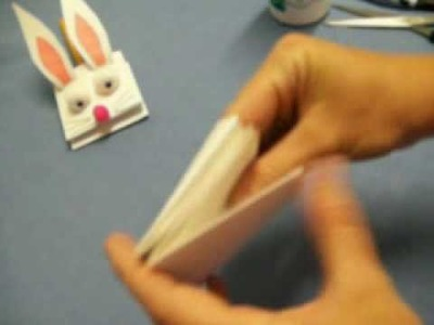 Simplest Bunny Hand Puppet by OneMinuteCrafts.com