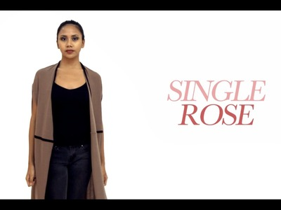 Single Rose Convertible Long Cardigan - How to Make The Single Rose Cardigan in 12 plus styles