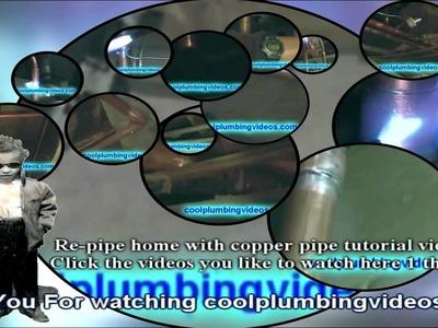 Solder copper pipe DIY repipe home Tutoral