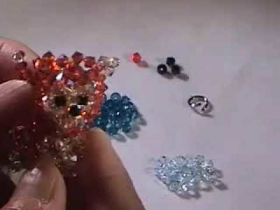 Swarovski Crystal Monkey Charm Beads weaving Part 1