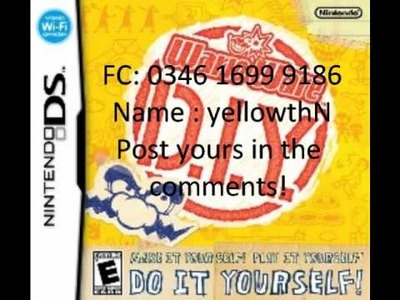 Unofficial WarioWare D.I.Y Friend Code Share Video (Share yours here too!)